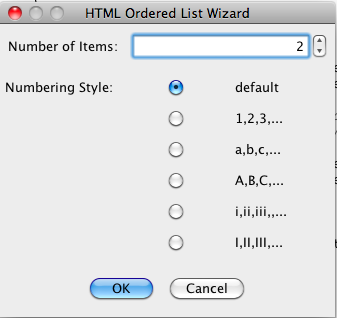 HTML Ordered List Tag Tool