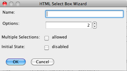 HTML Select Box Tag Tool
